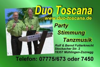 Duo Toscana oder Dj Team Toscana Mischter Toscana Zaubershow