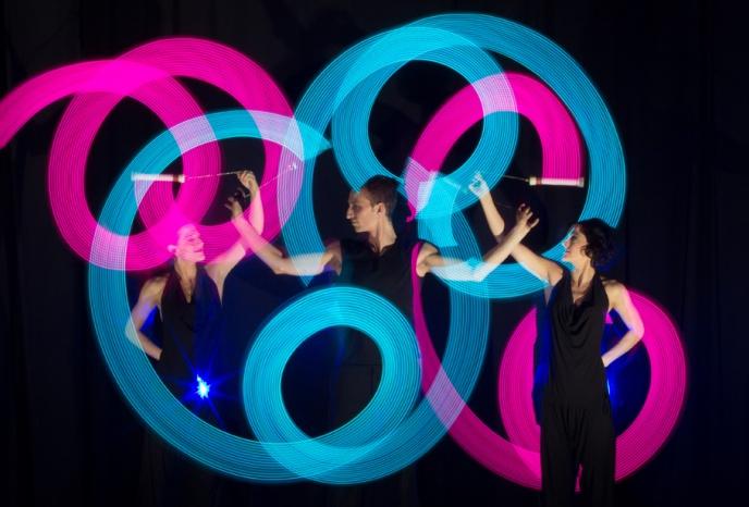 Hochzeitsband München LOOOOP Feuer- und Lichtshow