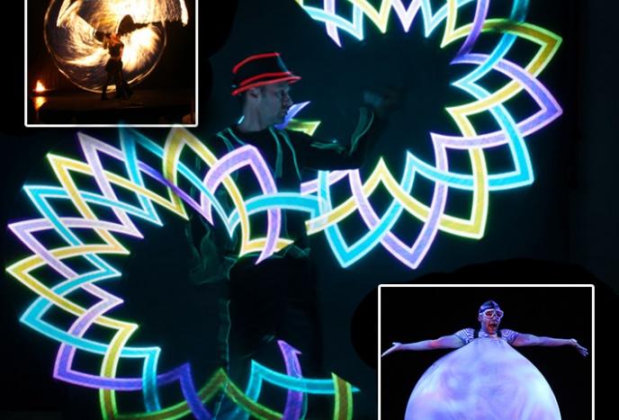 Firmenfeier Dresden Jongleur und LED Lichtkünstler Volker Maria Maier