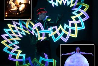 Jongleur und LED Lichtkünstler Volker Maria Maier