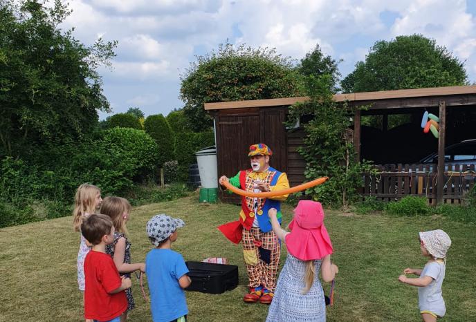 Firmenfeier Hamburg clown peppino